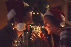Света пар и рождества стоковая фотография