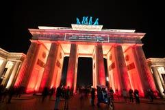 света празднества berlin стоковое изображение rf