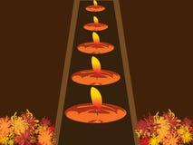 света празднества diwali Стоковое фото RF