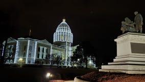 Света праздника капитолия государства Арканзаса стоковые изображения rf