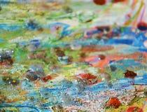 Света, предпосылка желтого цвета голубая оранжевая пастельная абстрактная Стоковые Фотографии RF