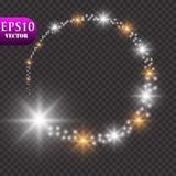 света предпосылки золотистые Концепция светов рождества также вектор иллюстрации притяжки corel Стоковая Фотография