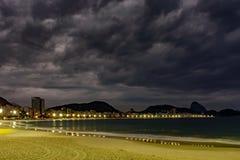 Света пляжа Copacabana Стоковое фото RF