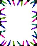 света рамки граници праздничные Стоковые Фото