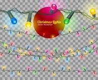 Света рождества вектора иллюстрация штока
