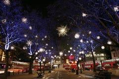 Света рождества в Лондон Стоковая Фотография RF