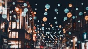Света рождества Лондона стоковые изображения
