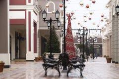 Света рождества, украшения рождества на улице стоковые фото