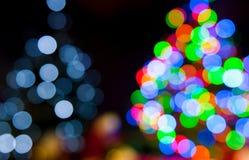 Света рождественской елки Стоковые Фото