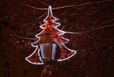 Света рождества дальше Стоковое фото RF