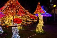 Света рождества в Salerno Стоковая Фотография