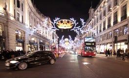 Света рождества Лондона стоковое изображение