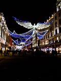 Света рождества на правящей улице Стоковые Изображения RF