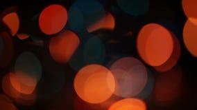 Света рождества Нерезкости Bokeh видеоматериал