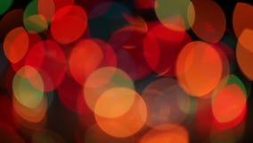 Света рождества Нерезкости Bokeh акции видеоматериалы