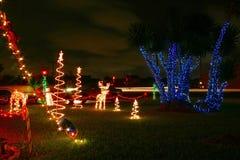 Света рождества самонаводят Стоковое Изображение RF
