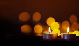Света свечи с запачканными светами Стоковые Изображения RF