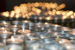 Света свечи Стоковое Изображение
