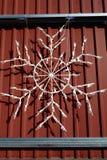Света снежинки внешние Стоковое Изображение