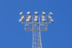 Света стадиона Стоковое фото RF