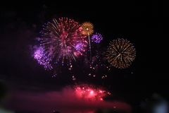Света фейерверков Стоковое Фото