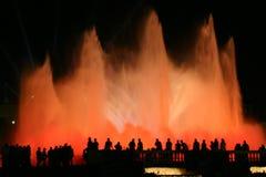 света фонтана Стоковые Фото