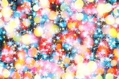 Света цвета рождества Стоковое Изображение RF