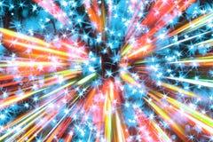Света цвета рождества Стоковая Фотография RF