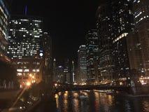 Света Чикаго Стоковая Фотография