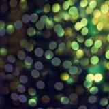Света яркого блеска винтажные с расплывчатым специальным волшебным влиянием glitter Стоковые Фото