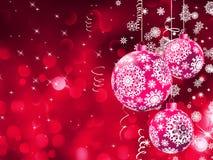 Света Bokeh и шарики рождества. EPS 10 Стоковое Фото