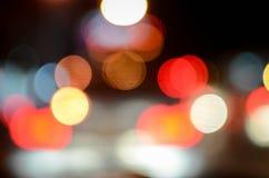 Света Bokeh на ноче Стоковые Изображения RF