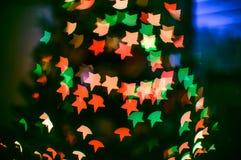 света bokeh нерезкости enhaced рождеством Стоковое Изображение RF