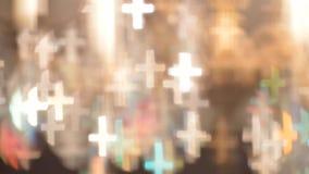 Света Bokeh сформированные как кресты Стоковые Изображения
