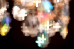 Света Bokeh сформированные как кресты Стоковое фото RF