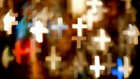 Света Bokeh сформированные как кресты Стоковое Изображение