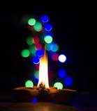 Света Diwali Стоковые Фотографии RF