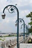 Светильники аранжированные в рядке. Стоковая Фотография RF