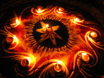 светильники круга Стоковое фото RF