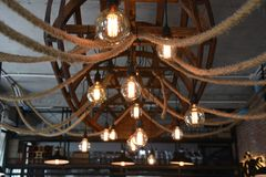 светильники померанцовые Стоковое фото RF