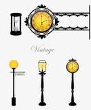 светильники часов иллюстрация вектора