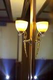 Светильник в окне Стоковое Фото