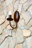 Светильник канделябра на стене ashlar стоковое изображение rf
