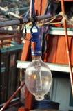 Светильник рыболовства вида шлюпки напольный стоковая фотография rf