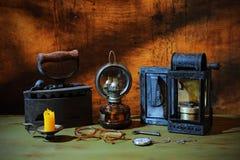 светильник старый Стоковое Фото