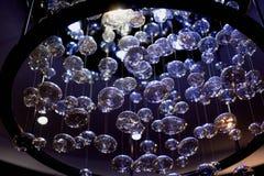 светильник холодный свет интересная форма Оформление комнаты Стоковые Изображения RF