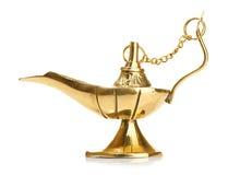 Светильник Aladdin волшебный на белизне Стоковая Фотография