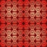 Светить безшовной картины красный золотой Стоковые Фото
