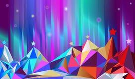 светить montains цвета северный Стоковое фото RF