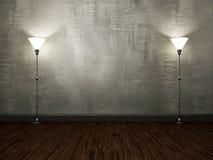 Светильники около стены цемента Стоковое Фото